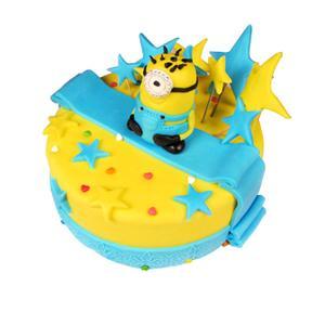 小黄人翻糖蛋糕